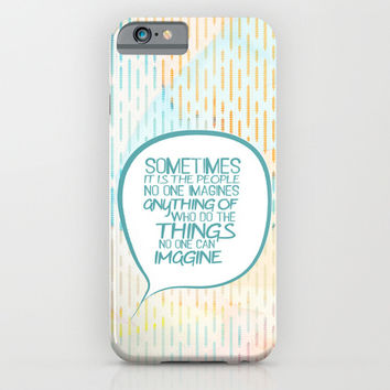 Imitation game.. sometimes the people, alan turing quote iPhone & iPod Case by Studiomarshallarts