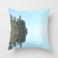 Split Rock Throw Pillow by Anthony Londer | Society6