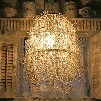 Crafts to make / Pearl Strand Chandelier