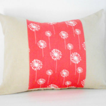 Christmasinjuly CIJ Linen Pillow Cover Coral Cushion Cover Bolster 12 X 16 inches