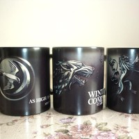 Game of Thrones Custom Color Changing Coffee Mug (Stark, Arryn, Lannister)