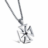 Shiny Gift New Arrival Jewelry Cross Rack Hollow Out Titanium Men Pendant Accessory Korean Stylish Necklace [10783258243]