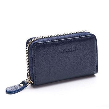 Credit Card Holder Rfid Blocking for Women Small Leather Debit Bank Card Holder Travel Purse Business Card Protector
