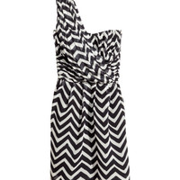 H&M - Chiffon Dress - Black/White - Ladies