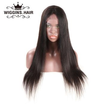 Wiggins Lace Front Human Hair Wigs For Black Women Straight Pre Plucked With Baby Hair Brazilian Lace Wig Non Remy