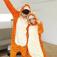 Cosplay  Women and Men Pyjamas Onesuits animals set Pajama Tigger Pajamas Christmas panda Pijama flannel pajamas