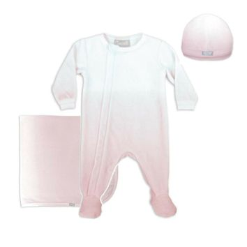 Coccoli Baby Girls' Pink Ombre Velour 3 Piece Set