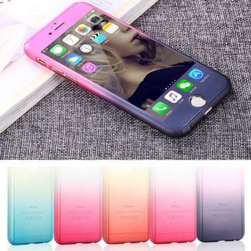 New Gradient Case for iPhone 7 6 6S 6Plus 6s Plus TPU Case Soft Dual Silicon Cover Fundas for iPhone7 7Plus Gel