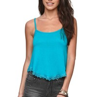 Nollie Hankerchief Hem Crop Tank - Womens Tees -