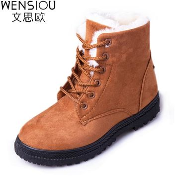 Women's Boots 2017 New Snow Ankle Boots Autumn And Winter Shoes Female Warm Women's Cotton Shoes Boots Footwear GDT1030