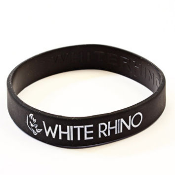 White Rhino Wrist Band