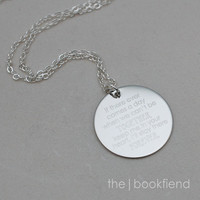 """if there ever comes a day we can't be together --- engraved 1"""" charm necklace"""