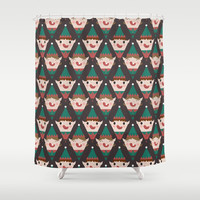 Day 22/25 Advent - Little Helpers Shower Curtain by lalainelim