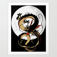 Shenron - Dragon Ball Z Art Print by TxzDesign