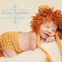 Mighty Lion Bonnet and Diaper Cover Crochet Pattern -- Pattern Includes sizes newborn-12months