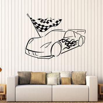 Vinyl Wall Decal Garage Car Racing Racer Stickers Mural Unique Gift (421ig)