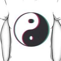 YinYang Transparent Tumblr Style Women's T-Shirt