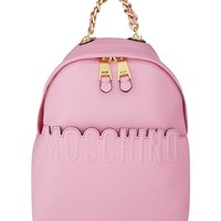 MOSCHINO - Leather logo backpack | Selfridges.com