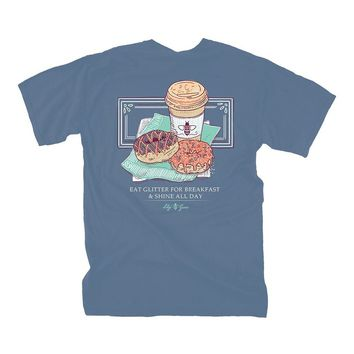 Donuts and Coffee Tee by Lily Grace