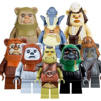 Star Wars Force Episode 1 2 3 4 5 CZHY  Blocks Bricks Ewok Village Tan Tokkat Wicket Paploo Logray Battle of Endor Building Gift Toys Christmas PG8067 AT_72_6