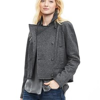 Banana Republic Womens Heritage Cropped Double Breasted Jacket