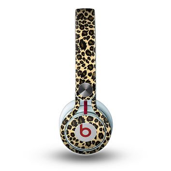 The Small Vector Cheetah Animal Print Skin for the Beats by Dre Mixr Headphones