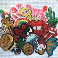 10Pcs Sequin Patches Set - Mixed Patches, Wholesale Patch, Iron on Patch