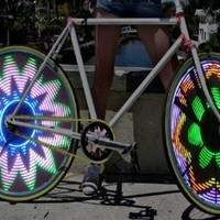 Cool Shiny Bike Bicycle Car Motorcycle RGB 16 LED RGB Color Flash Tire Valve Wheel Spoke Light