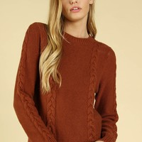 Braid New World Sweater in Brick