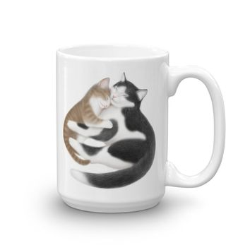 Tuxedo Kitty Cat Love Mug