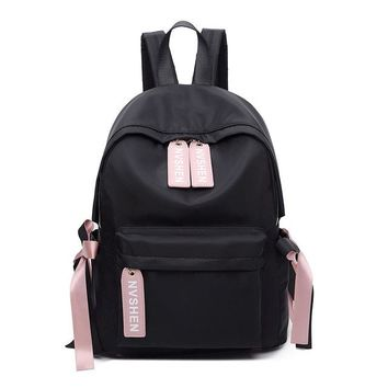 Student Backpack Children POMELOS Women Preppy Style Students Backpack Ladies Fashion Bow Back Pack Bag Rucksack Female Waterproof Oxford Travel Backpacks AT_49_3