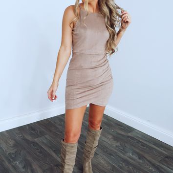 Don't Slow Down Dress: Mocha