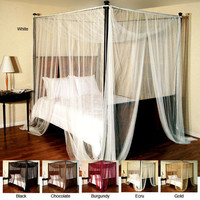 Overstock.com Palace Four-poster Bed Canopy