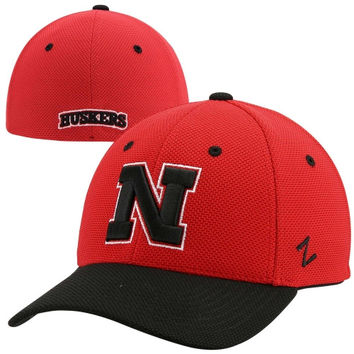 Zephyr Nebraska Cornhuskers Pursuit Two-Tone Flex Hat - Scarlet