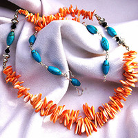 Spiny Turquoise Necklace