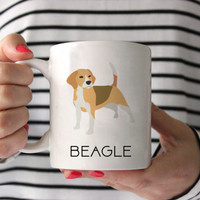 Beagle Coffee Mug - Beagle Ceramic Mug  - Dog Mug - Gift for Coffee Lovers - Beagle Lover Gift - Beagle gift - Beagle Mug - Beagle Decor