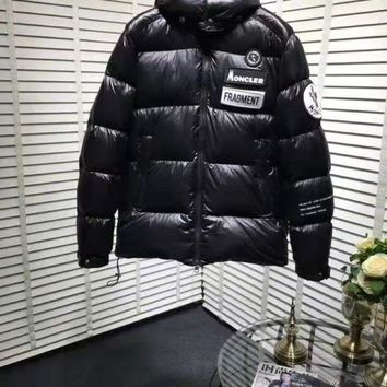 Moncler Warm Winter Down Jacket Windproof Hooded Collar Men's Parka Male Big Coat