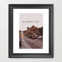 perks of being a wallflower - happy + sad Framed Art Print by lissalaine | Society6