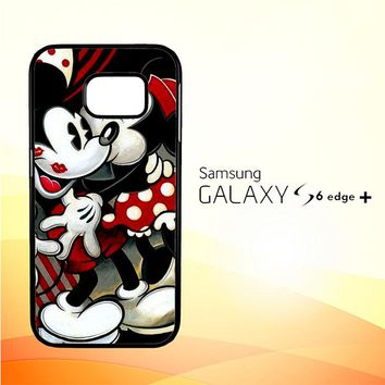 Hugs and Kisses  Mickey Minnie mouse Z1557 Samsung Galaxy S6 Edge Plus Case