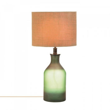 Gradient Green Bottle Table Lamp