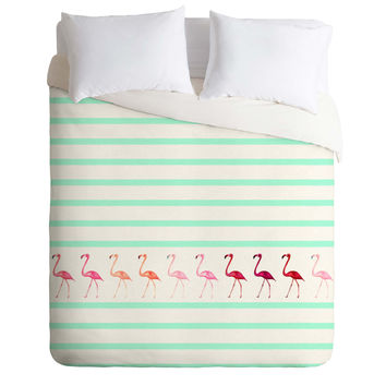 Monika Strigel Mini Flamingo Walk Duvet Cover