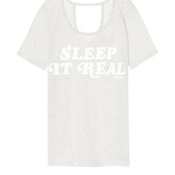 Open-Back Sleep Tee - PINK - Victoria's Secret