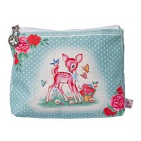Pink Deer Make-Up Bag