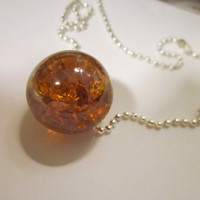 Crystal Glass Ball Necklace with Magic Effects