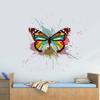 Full Color Wall Vinyl Sticker Decals Decor Art Bedroom Dorm Design Mural Butterfly Spring Paintings (col776)