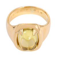 Hermes Sugarloaf Citrine Yellow Gold Ring
