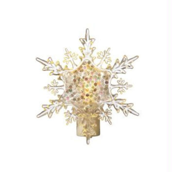Snowflake Christmas Night Light - Swivel Base Compatible With Any Outlet Orientation