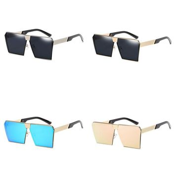 Fashion UV400 Vintage Sunglasses Square Frame PC Lens Oversized Eyewear Eyeglass