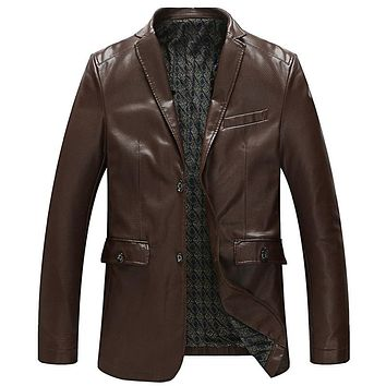 New Arrivals Men Leather Suede Jackets and Coat Street Wear Single Breasted Spring Men Trench Coats