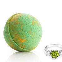 Peridot: August Birthstone - Bath Bomb With a Ring and a Chance to Win a $10k Ring